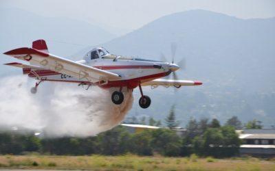 Pilotos de Conaf entrenan en simuladores de vuelo Air Tractor-802 en España