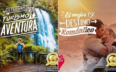 Por cuarto año Chile es Mejor Destino de Turismo Aventura de Sudamérica