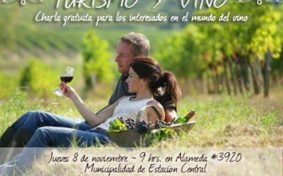 Turismo y vino analizarán en seminario en comuna de Estación Central