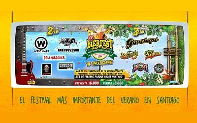 Bierfest Santiago contará con más de 150 variedades de cerveza artesanal
