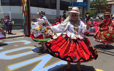 """Comenzó colorida fiesta de Carnaval Andino """"Con la fuerza del sol"""""""