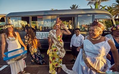 Rapa Nui estrena con éxito transporte público gratuito para Tapati Rapa Nui