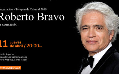 Roberto Bravo ofrecerá concierto gratuito en Iglesia Los Sacramentinos