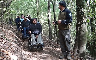 CONAF habilita primer tramo de sendero inclusivo natural en el Cerro Ñielol