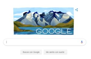 Homenaje de Google Chile al aniversario del Parque Nacional Torres del Paine.