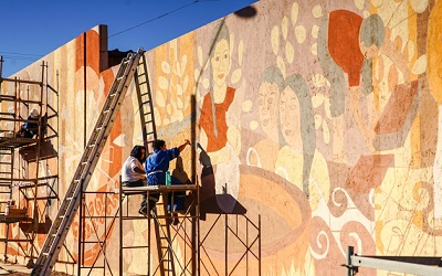 "Mural ""Tierras de Atacama"" será un gran ícono de San Pedro de Atacama"