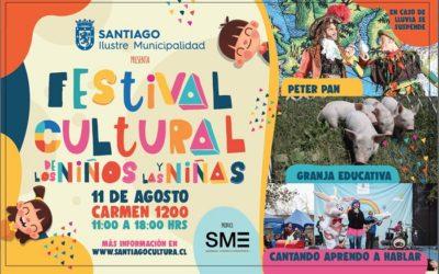 Con festival cultural la comuna de Santiago celebrará el Día del Niño