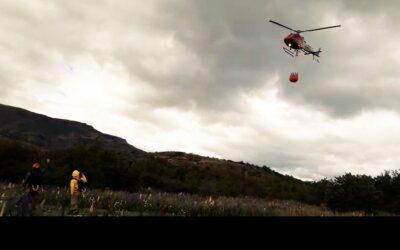 Helicóptero para combatir incendios forestales tiene PN Torres del Paine