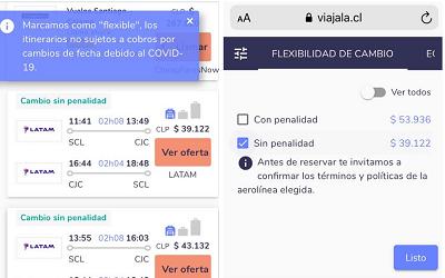 Viajala lanza un filtro que muestra vuelos flexibles debido al coronavirus