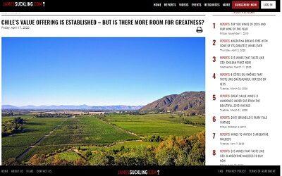 Biodinámico Gê de Emiliana entre mejores vinos de Chile según James Suckling