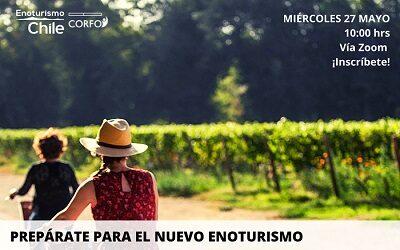 Enowebinar revelará las claves del turismo enológico en Chile post pandemia