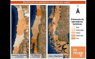 Alta concentración de operadores turísticos en tres regiones del país